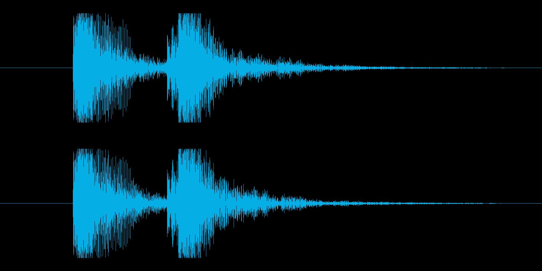 カカッ。Eギター、カッティング音の再生済みの波形