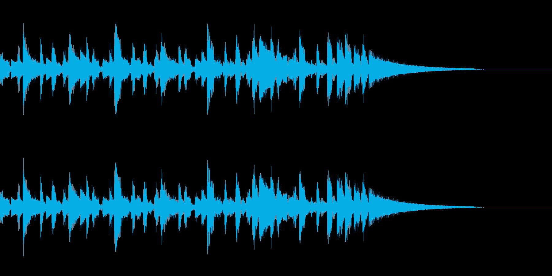 打楽器的なガットギターによるの再生済みの波形