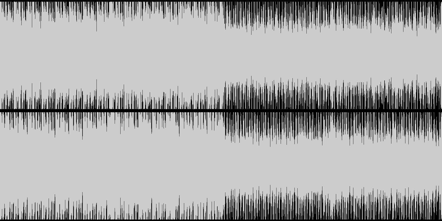 攻撃的なシネマティックオーケストラ曲の未再生の波形
