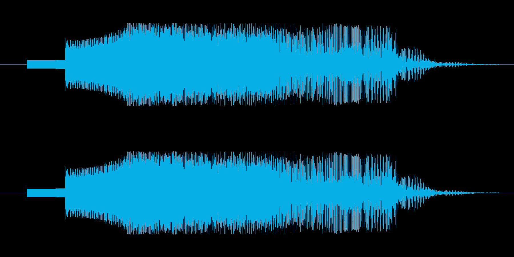 SFっぽい電子音。下降音などに。の再生済みの波形