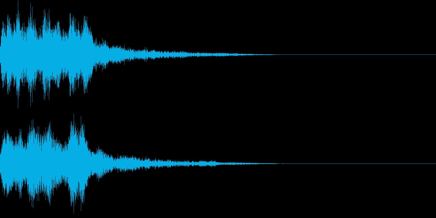 レベルアップ 発見 気付き 閃き ベルの再生済みの波形