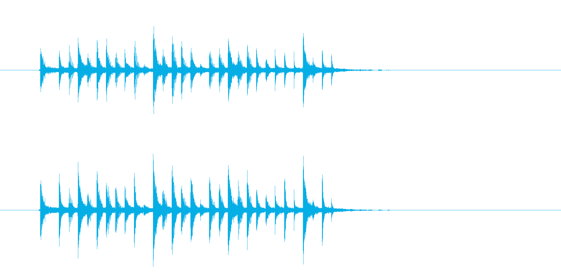 クールでかっこいいテクノのジングルの再生済みの波形