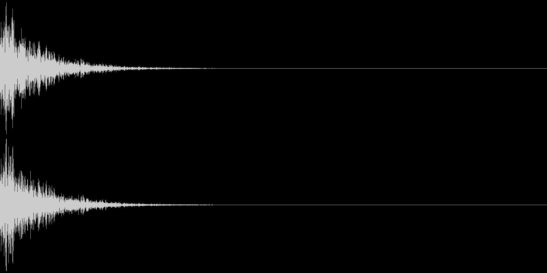 ボーン(レトロな敵消滅、撃沈音)の未再生の波形