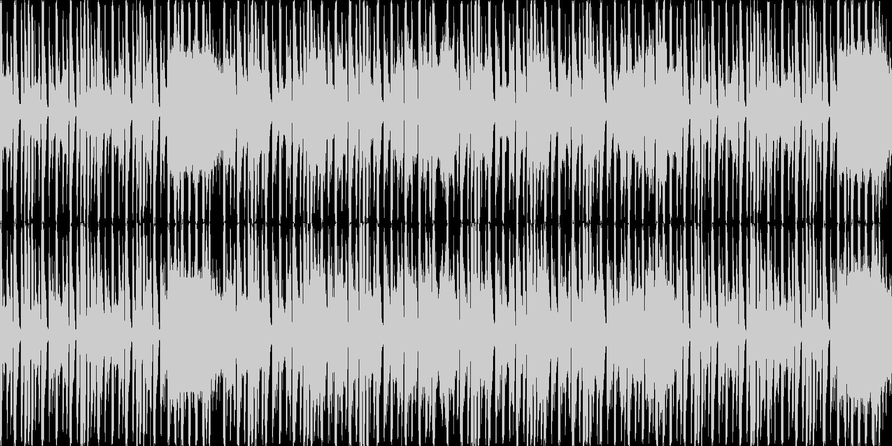 コミカルでかわいいエレクトロダンスループの未再生の波形