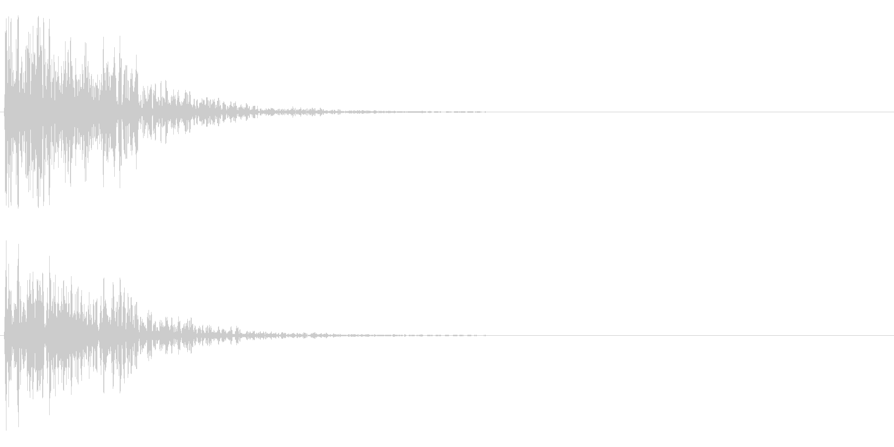 ドォンの未再生の波形