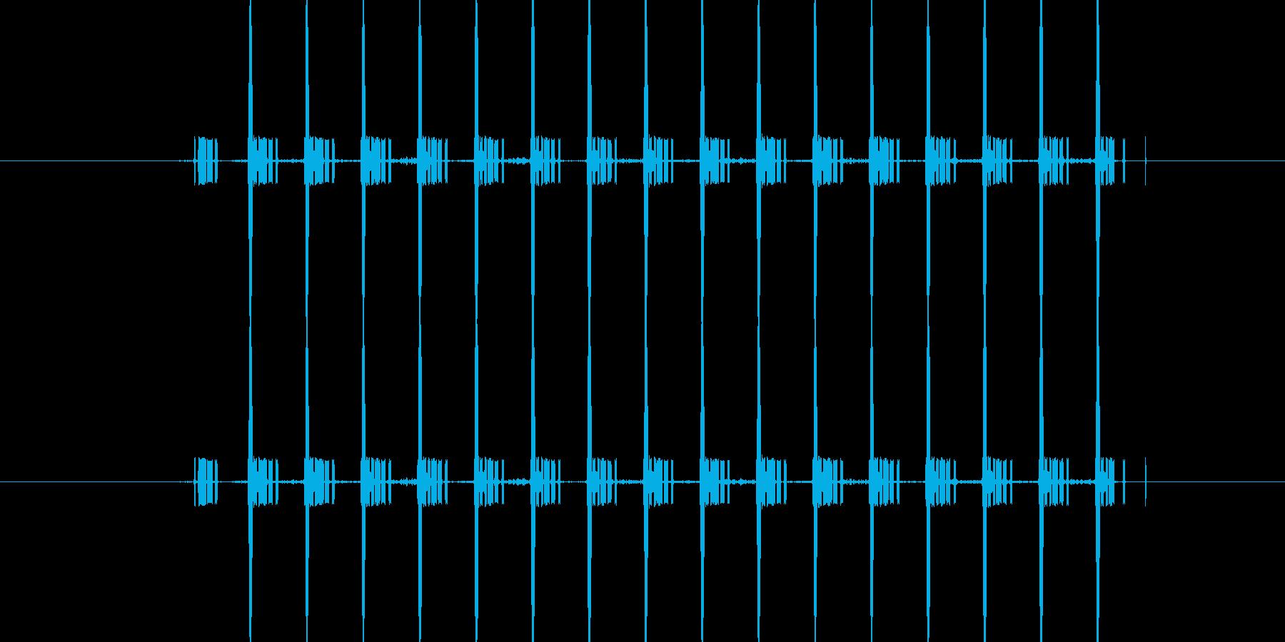 間違い時の機械音/短めの再生済みの波形