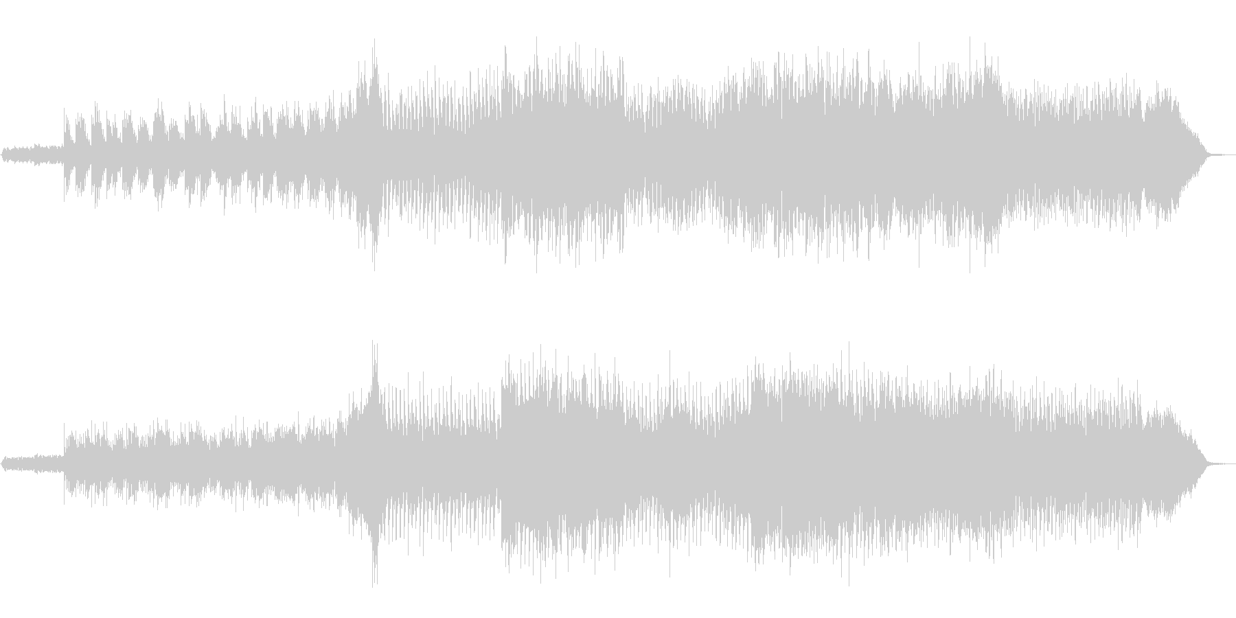 洗練されたオーケストラBGMの未再生の波形