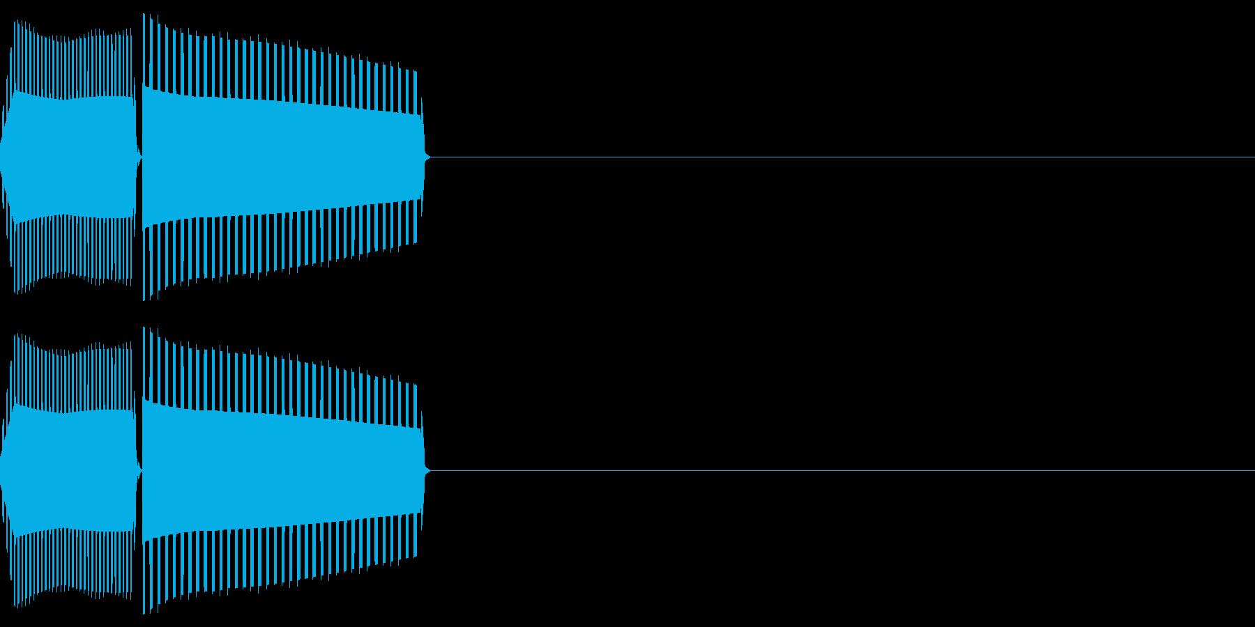 ボタン・カーソル・操作音 「ピロッ」の再生済みの波形