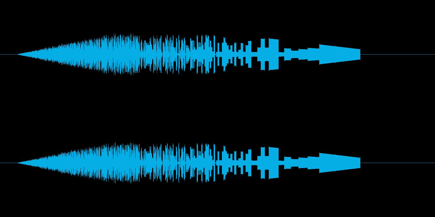 レトロな炎の効果音の再生済みの波形