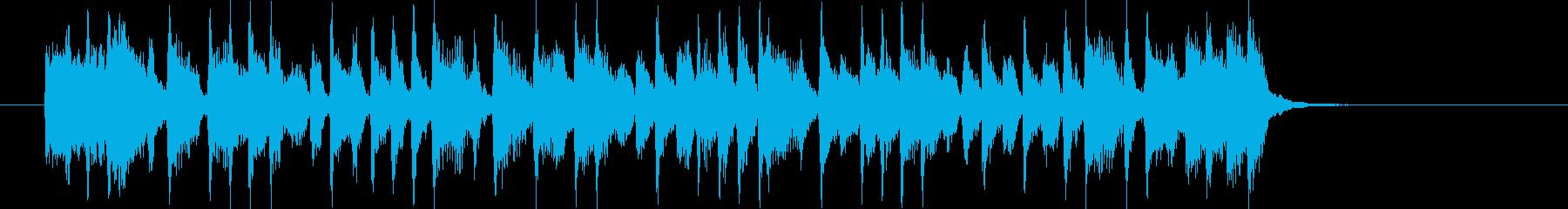 楽しげでおしゃれなシンセサイザーサウンドの再生済みの波形