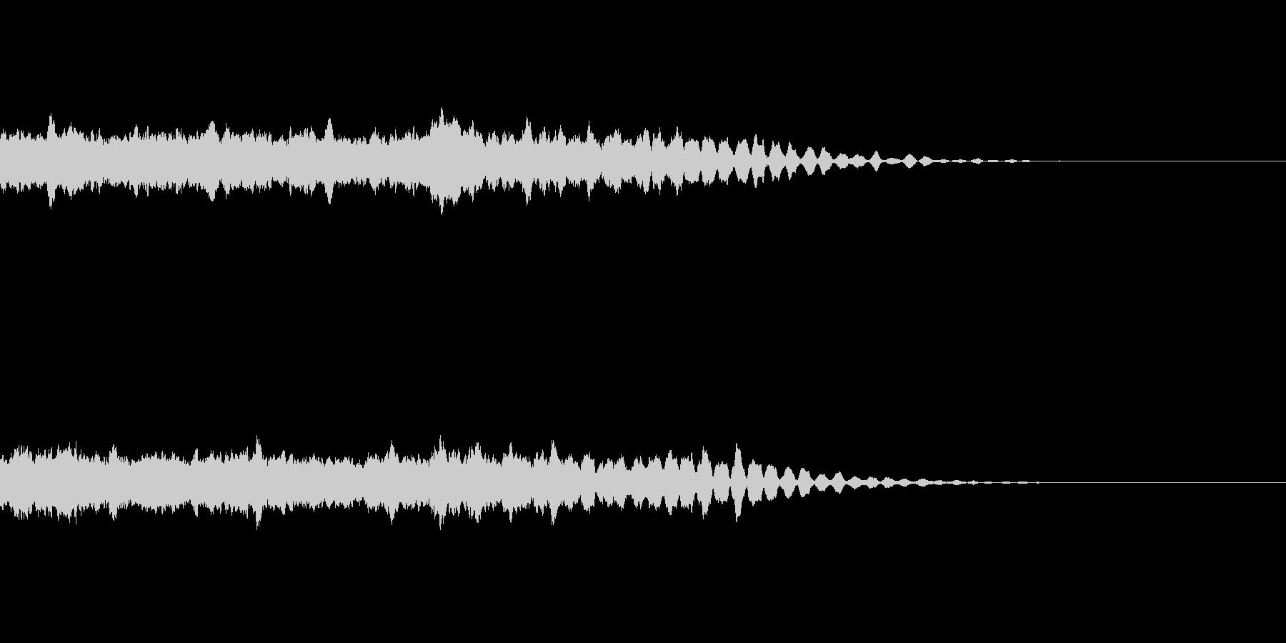 ダンスミュージックに合う上昇音の未再生の波形