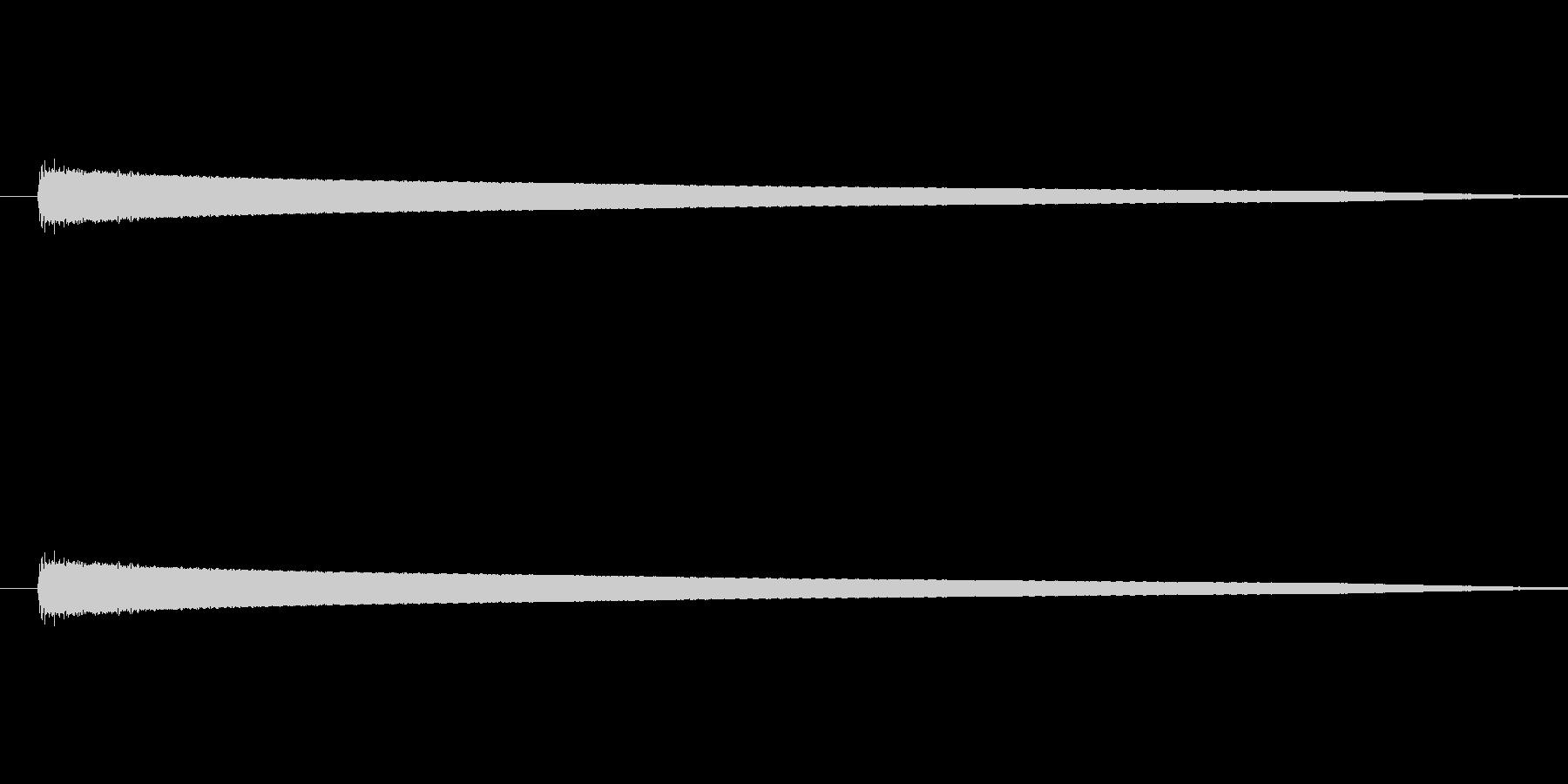 「コーン (ベル風の音)」の未再生の波形