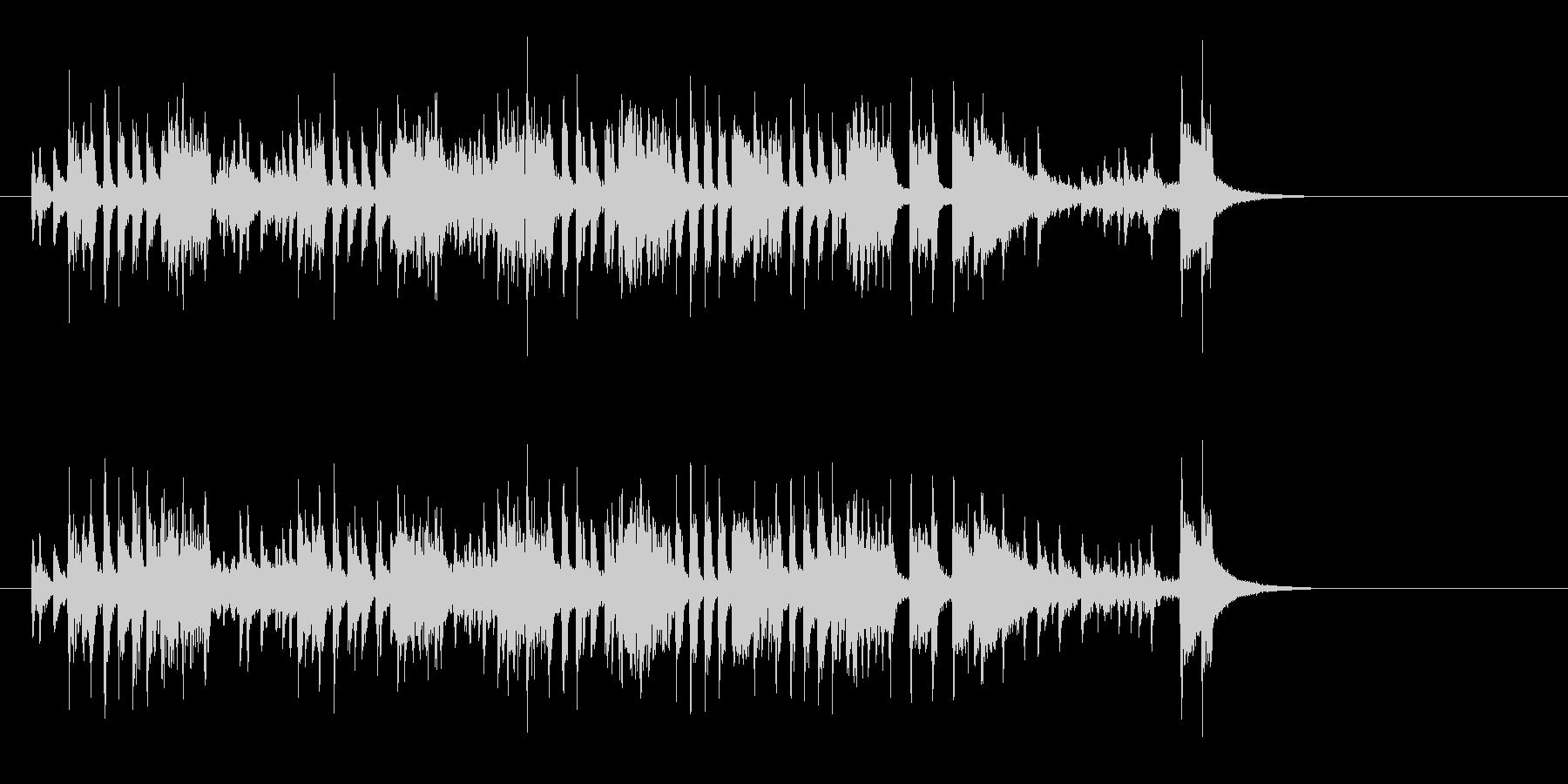 はでなエンディング向きクールなサウンドの未再生の波形