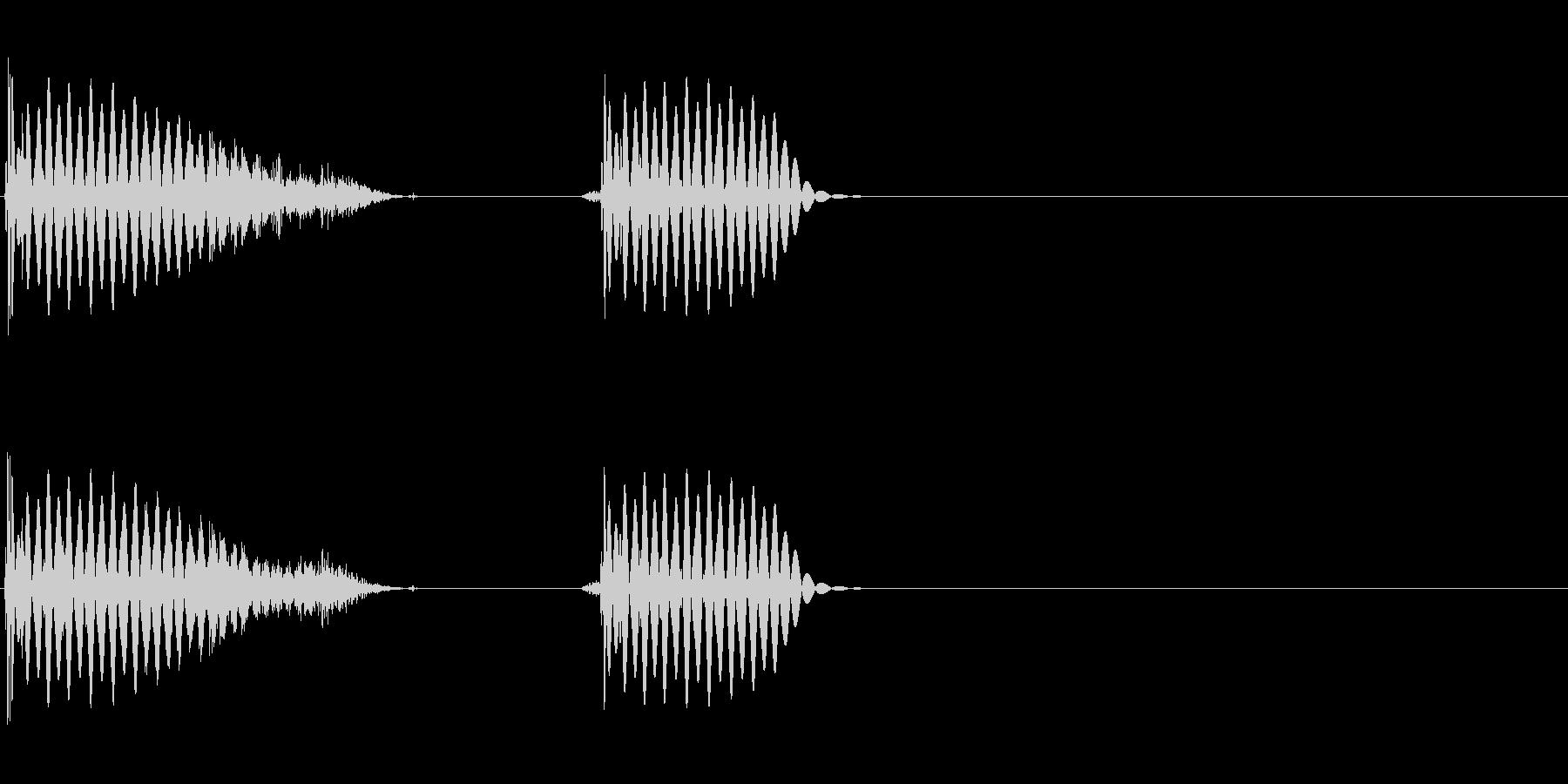 ブシーンブッ(フランジをかけたリズム)の未再生の波形