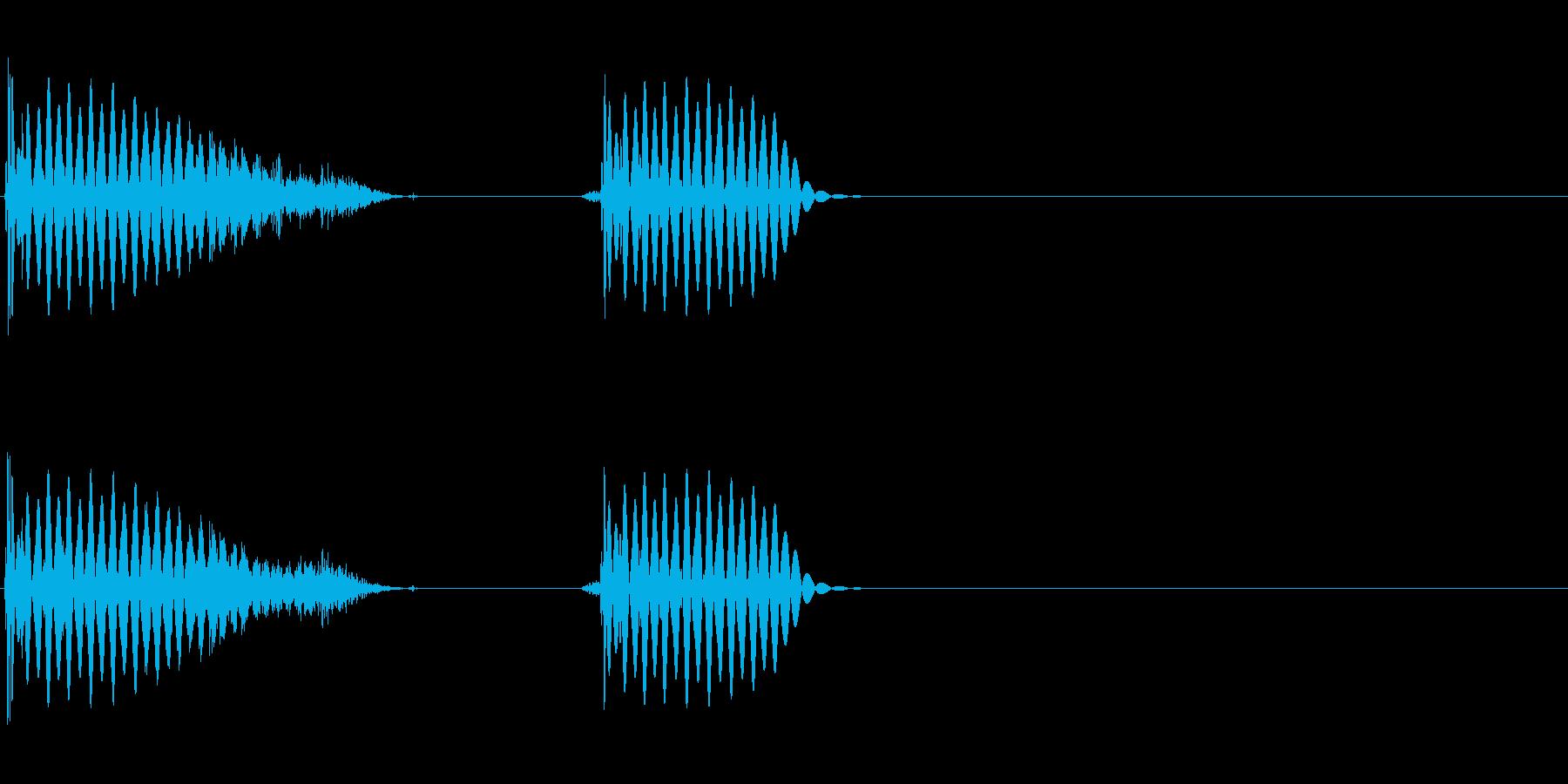 ブシーンブッ(フランジをかけたリズム)の再生済みの波形