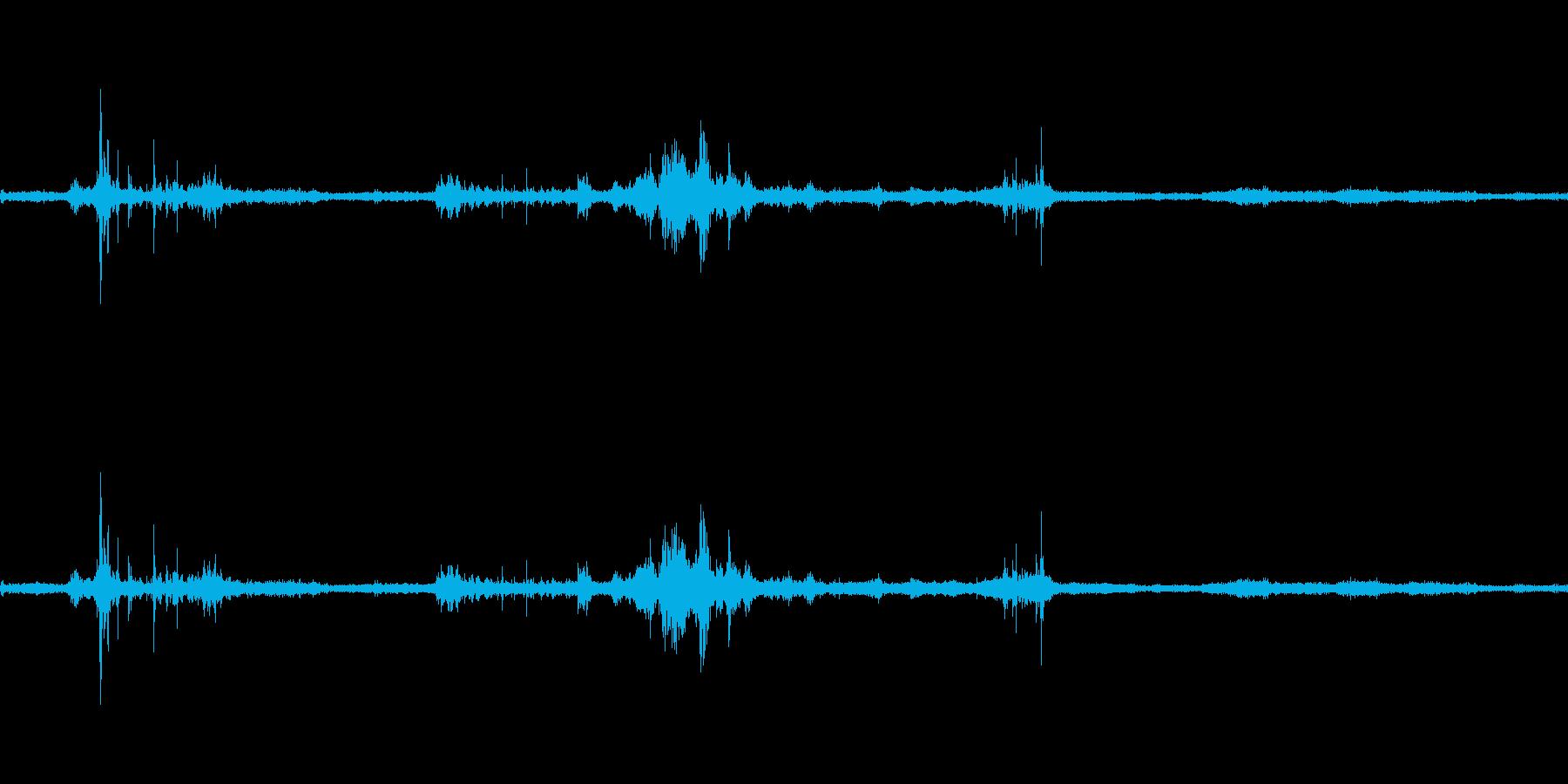 【生音】雷2 - 風と雷と通行音 「ざ…の再生済みの波形