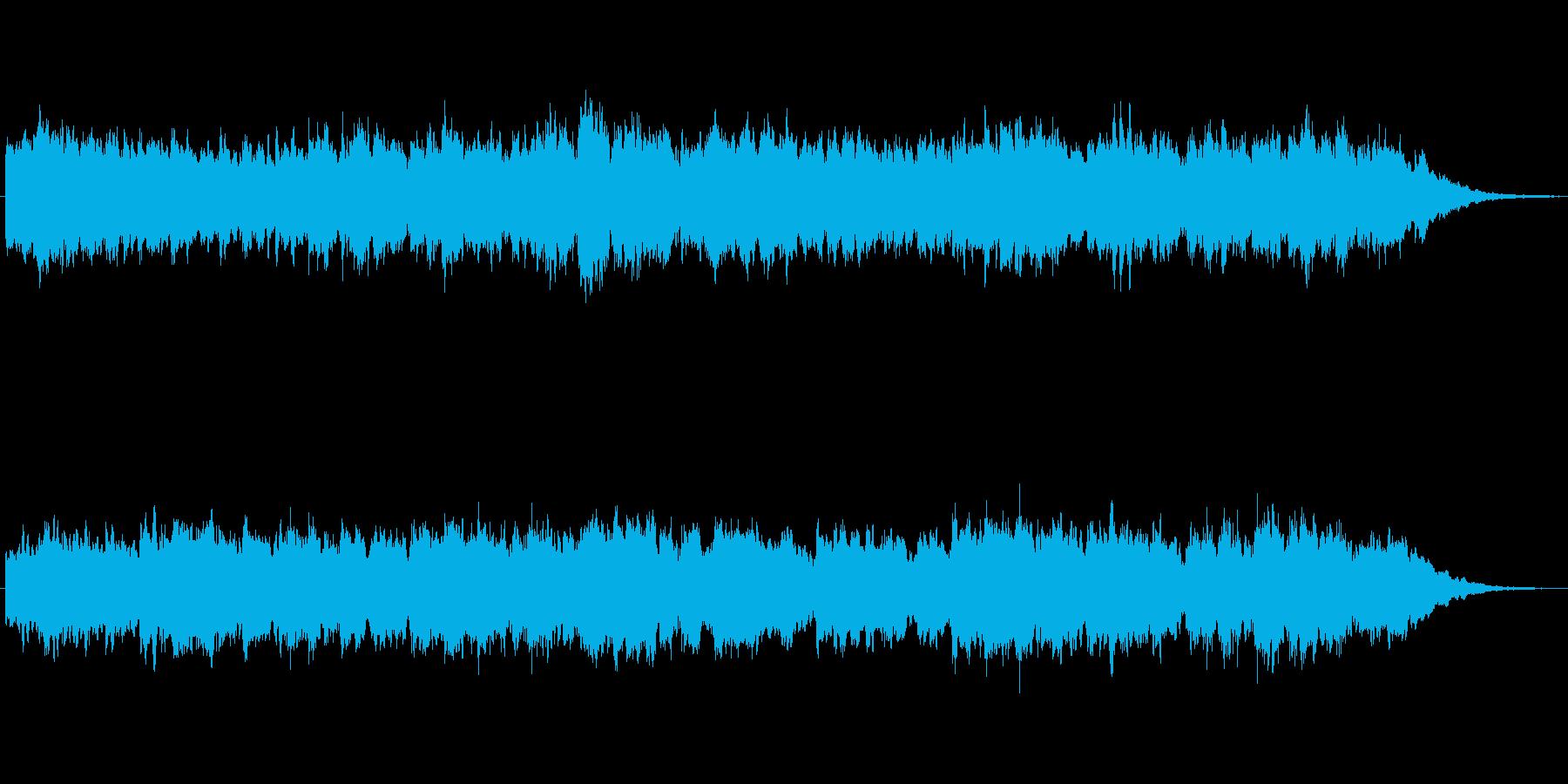 キラキラシンセのメルヘン世界のジングルの再生済みの波形