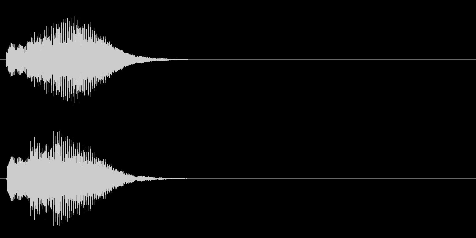 汎用 キラキラ系05(中) 決定音の未再生の波形