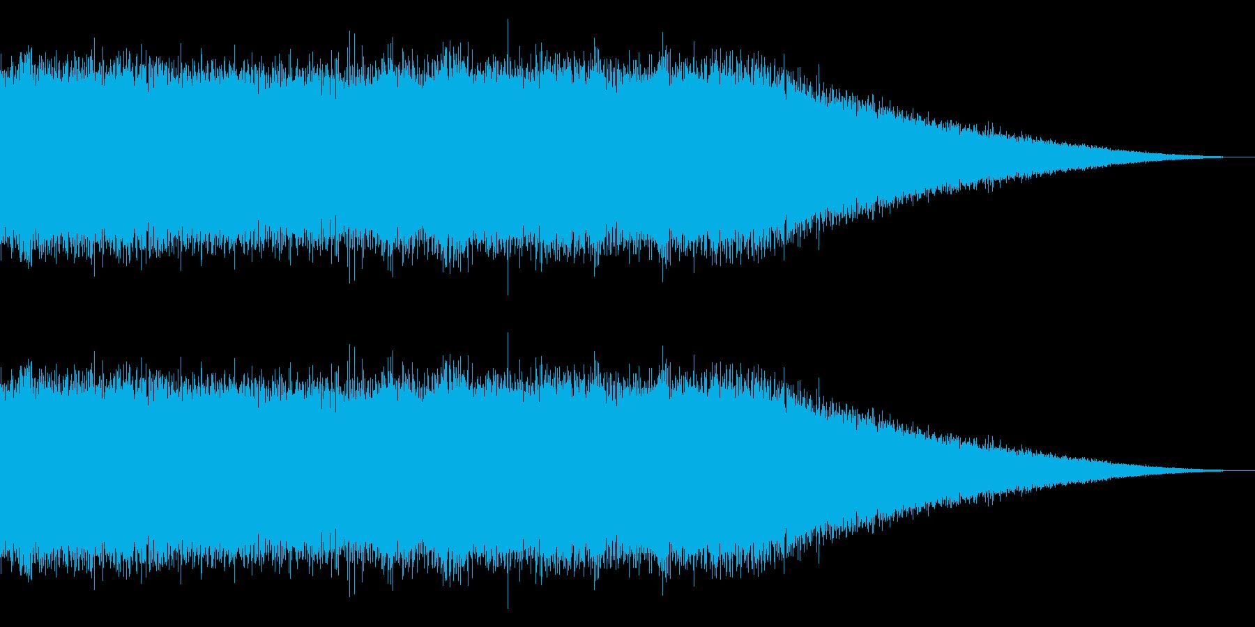 戦車の走行音/キャタピラの効果音 07の再生済みの波形