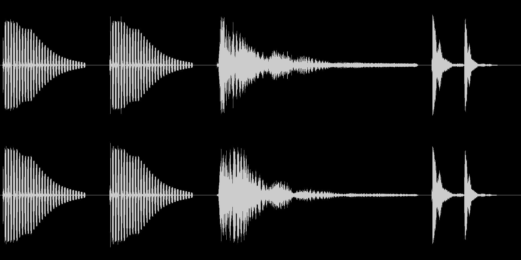 ブンブンビョーンポカッ(お笑いの効果音)の未再生の波形