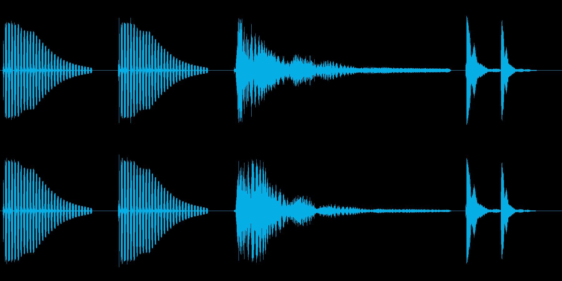 ブンブンビョーンポカッ(お笑いの効果音)の再生済みの波形
