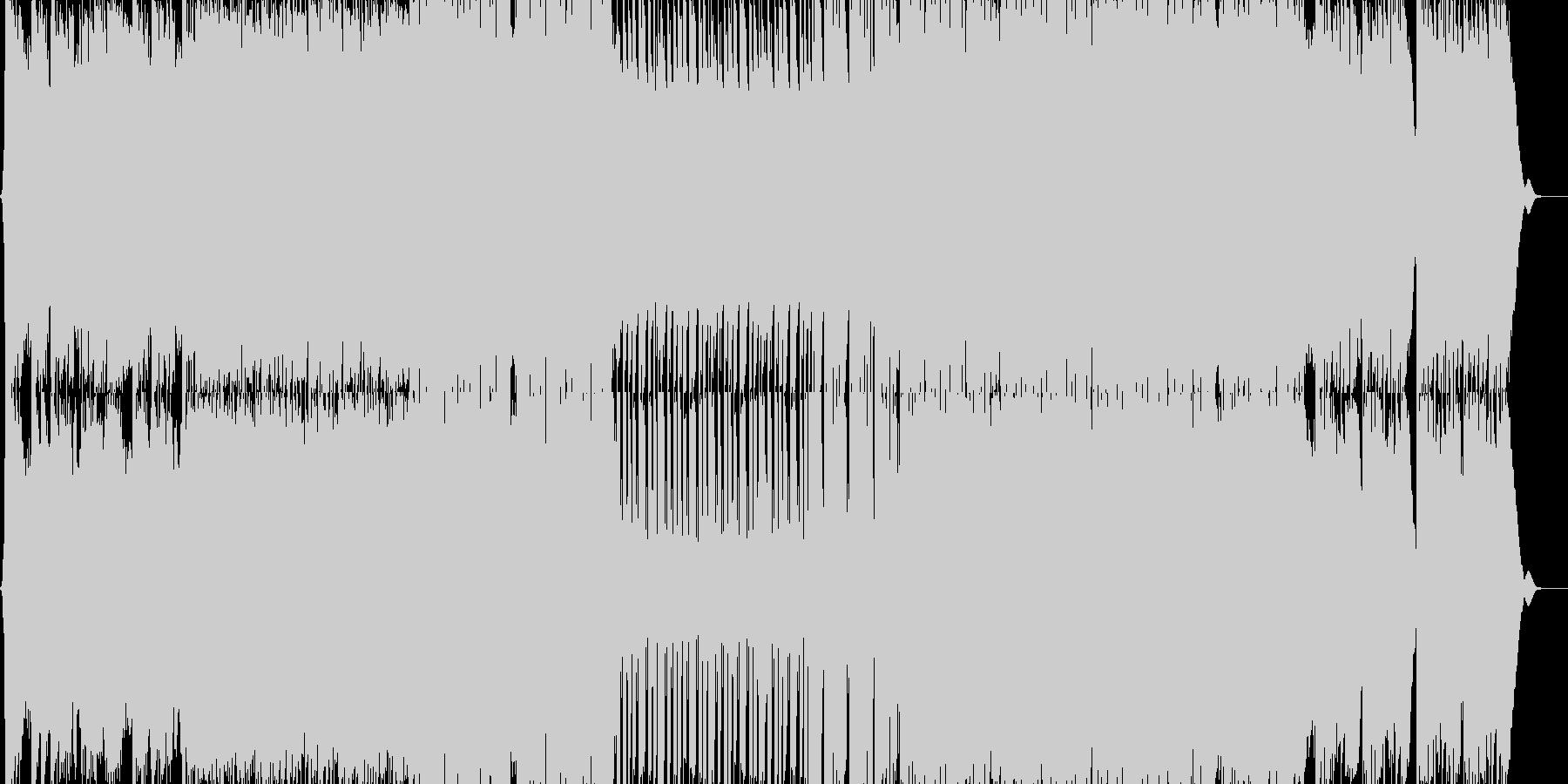 ラウドでシンフォニックなダブステップの未再生の波形