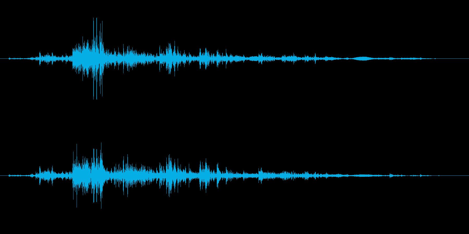 ぐしゃぐしゃ(崩れていくイメージ)の再生済みの波形