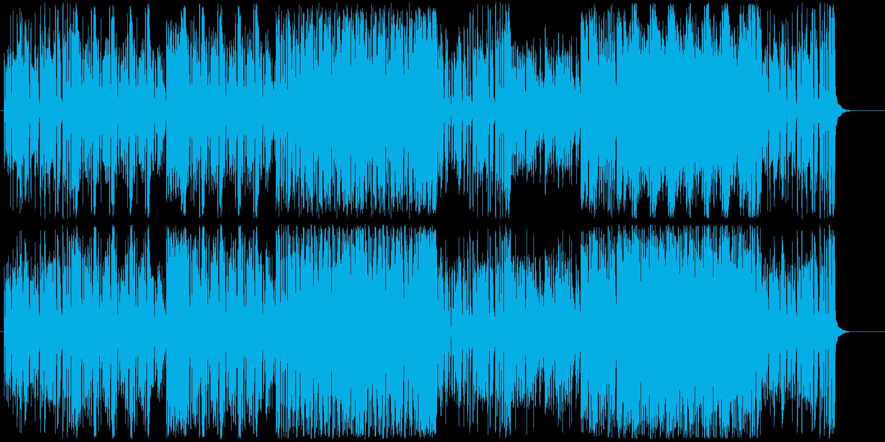 楽しくにぎやかなビックバンドジャズの再生済みの波形