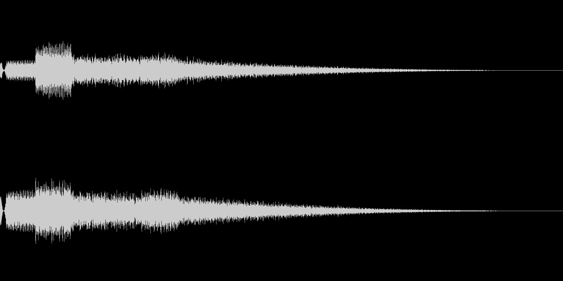 [効果音]チャイム、着信音の未再生の波形