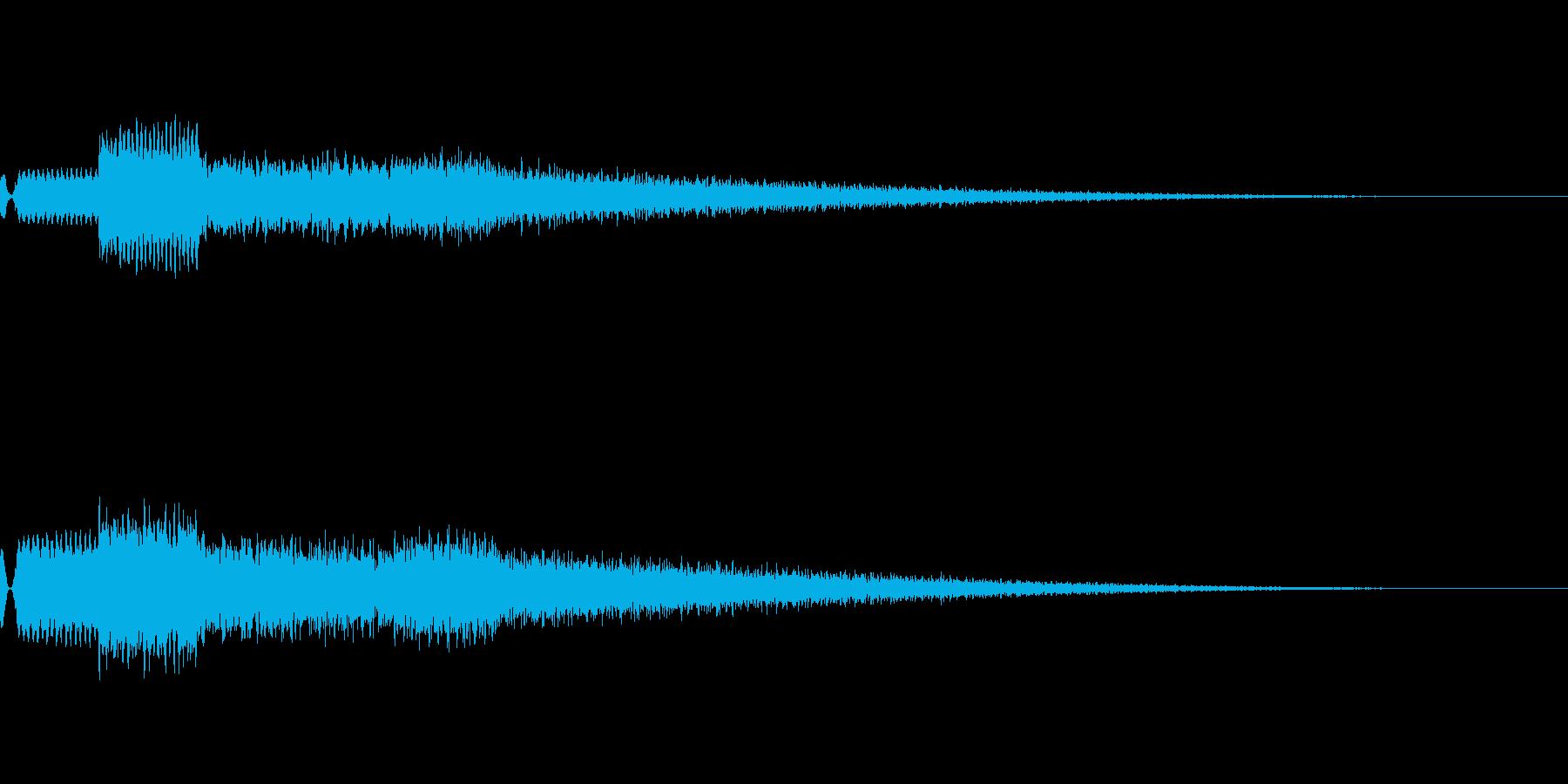 [効果音]チャイム、着信音の再生済みの波形