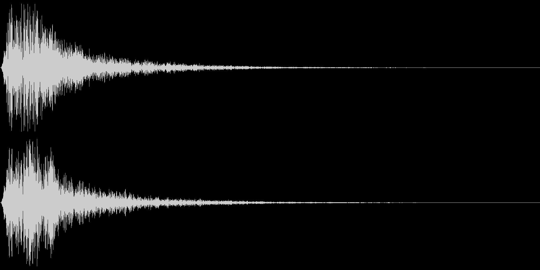 コロン(決定音、ゲーム、アプリなどに)の未再生の波形