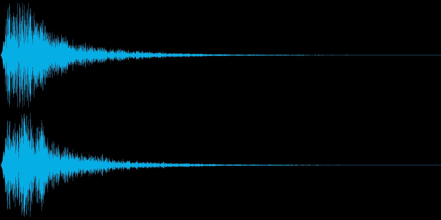 コロン(決定音、ゲーム、アプリなどに)の再生済みの波形