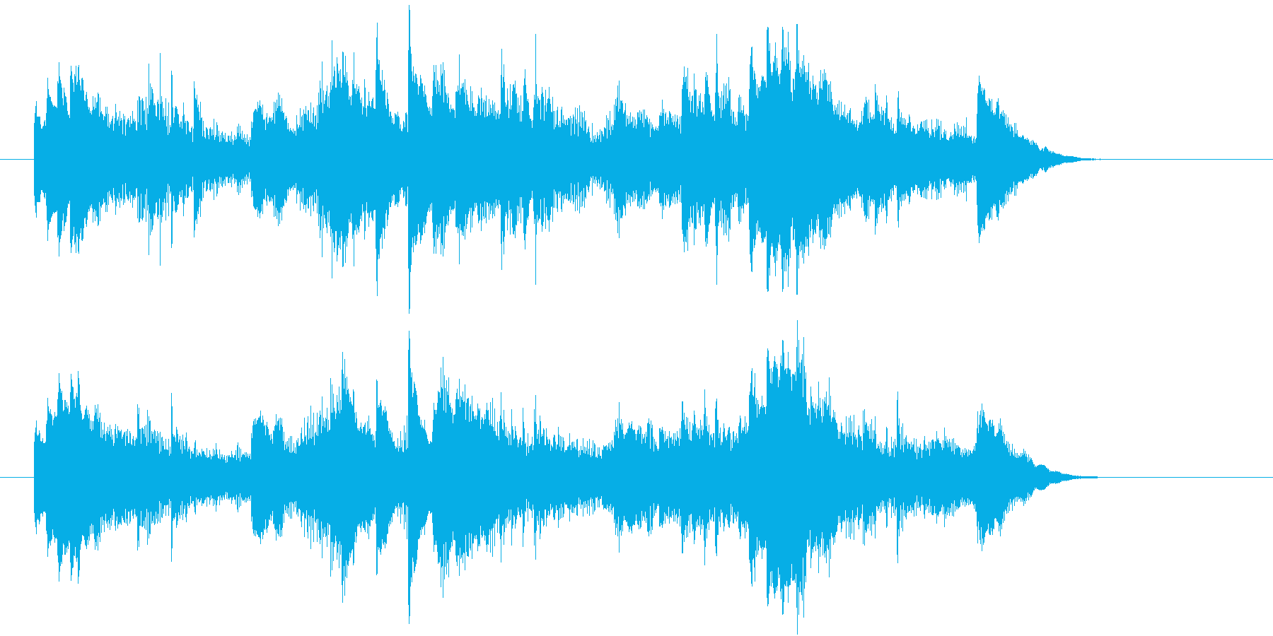 美しく儚いピアノのバラードの再生済みの波形