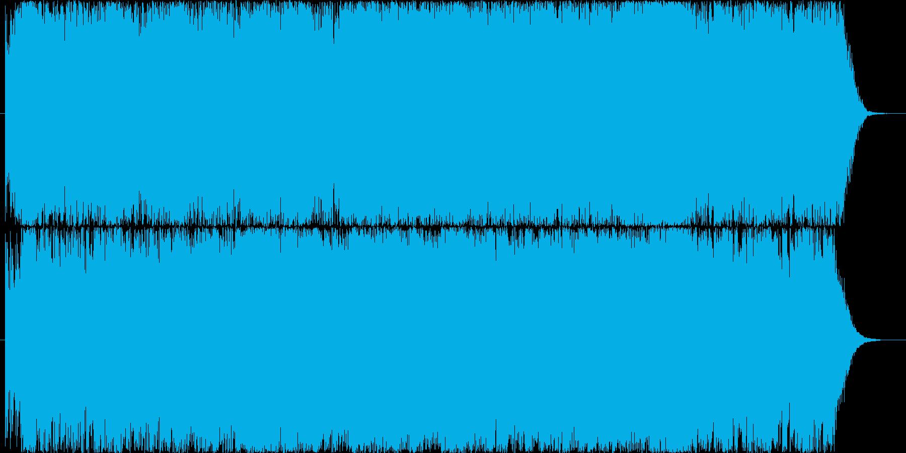パワフルな躍動感のあるストリングスの再生済みの波形