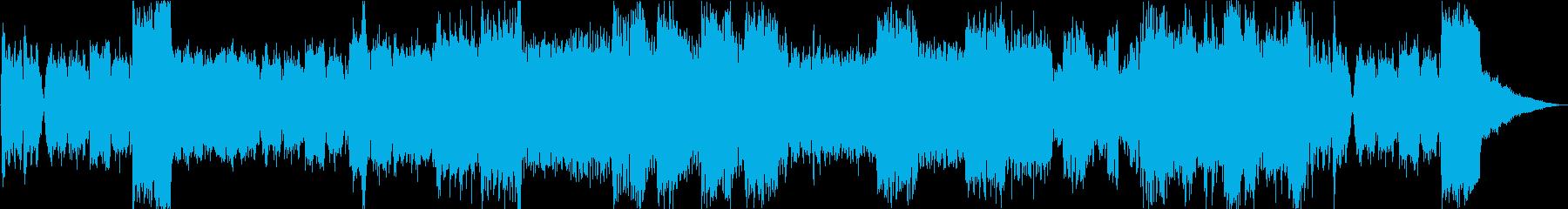 楽しく忙しい場面をイメージした楽曲の再生済みの波形
