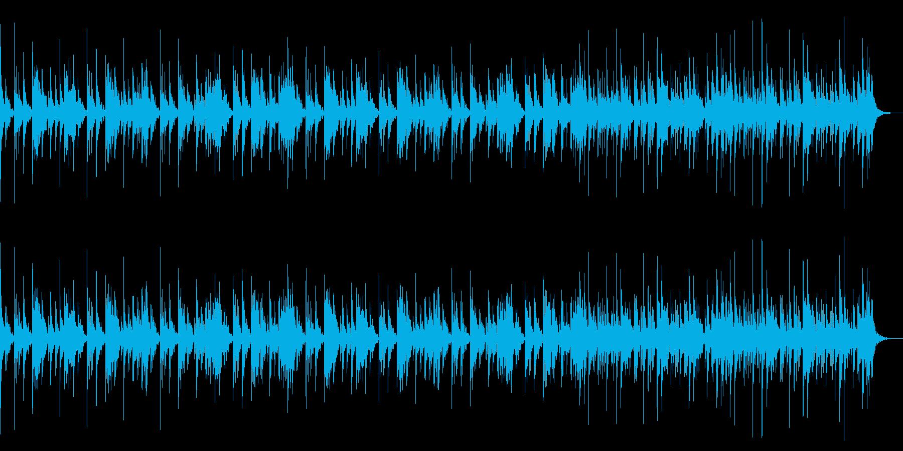 太鼓中心の打楽器BGM ドンドコ 50秒の再生済みの波形