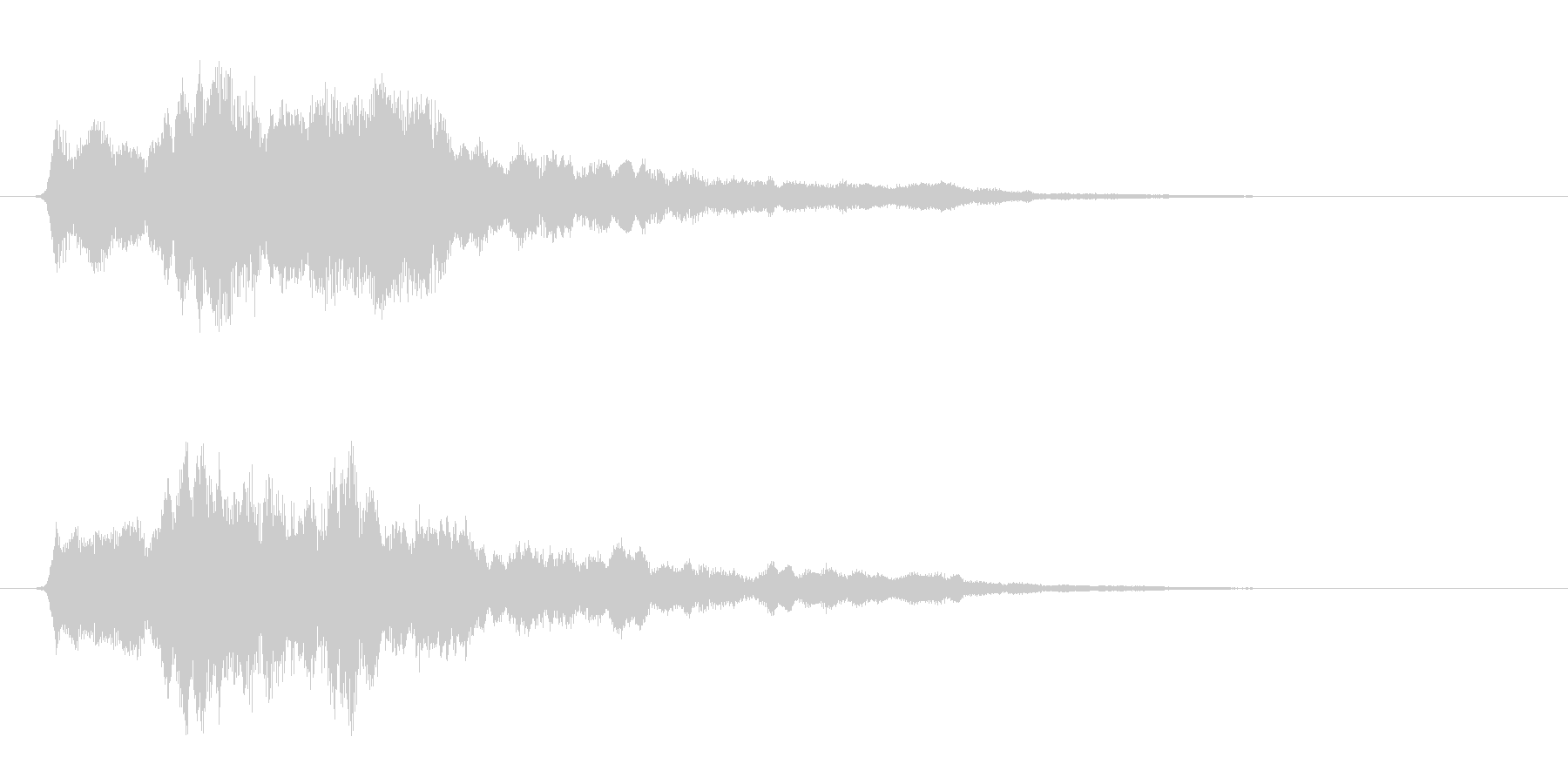 サウンドロゴ ほわーん系 その1の未再生の波形