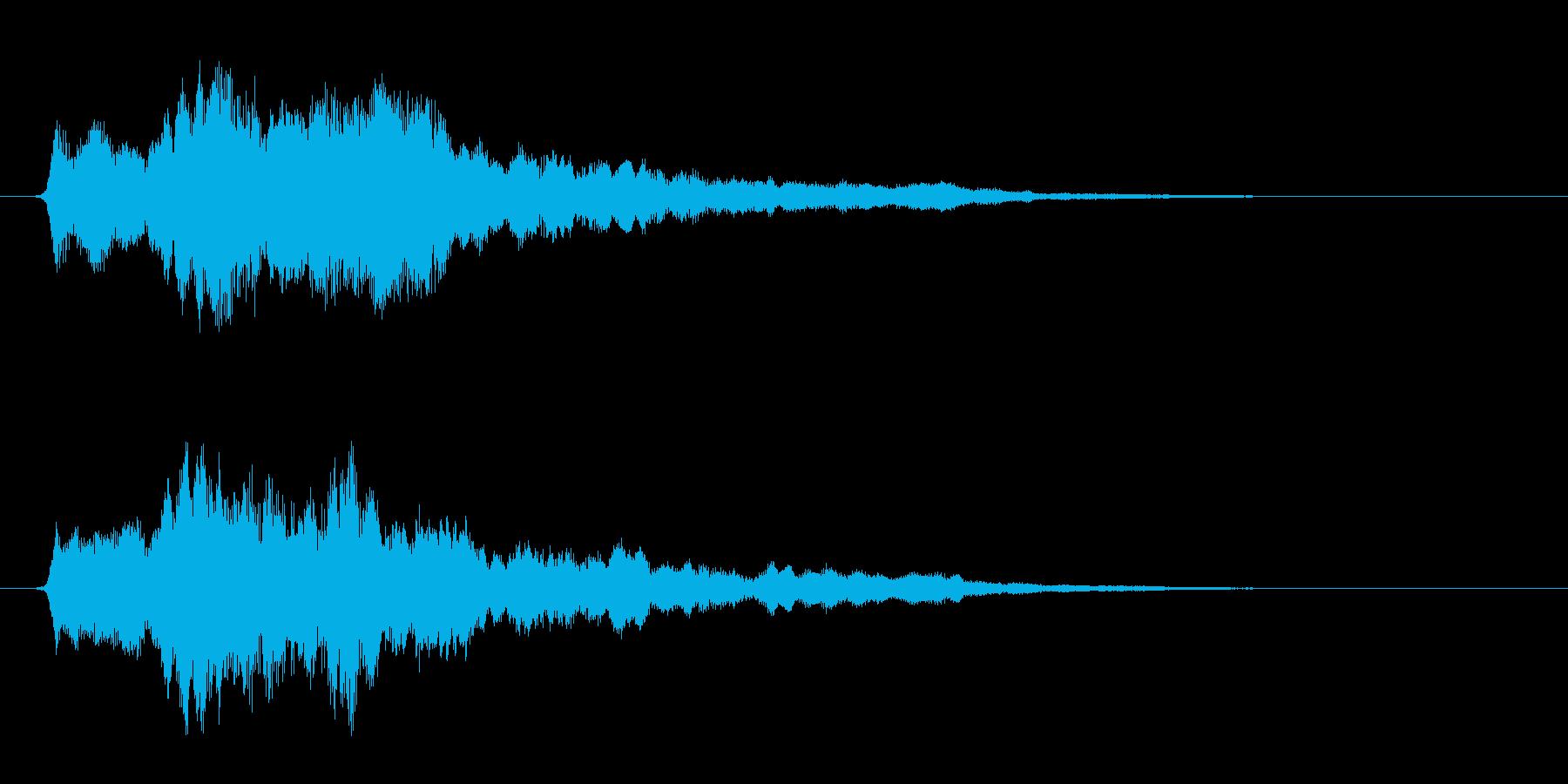 サウンドロゴ ほわーん系 その1の再生済みの波形