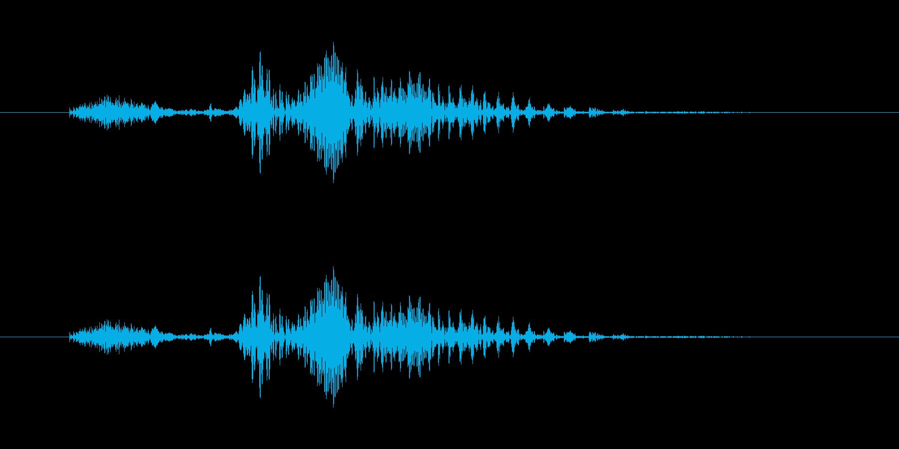 男声「とあっ、たあっ」格ゲー、掛け声の再生済みの波形