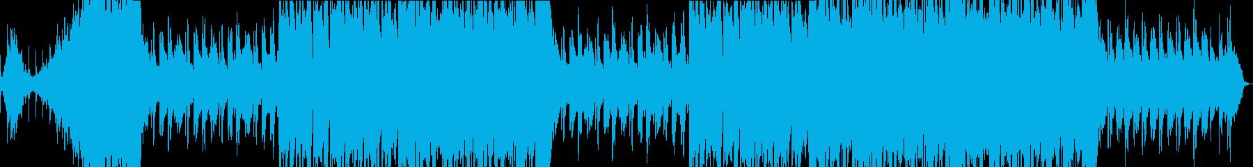和をイメージした癒し系バラード曲の再生済みの波形