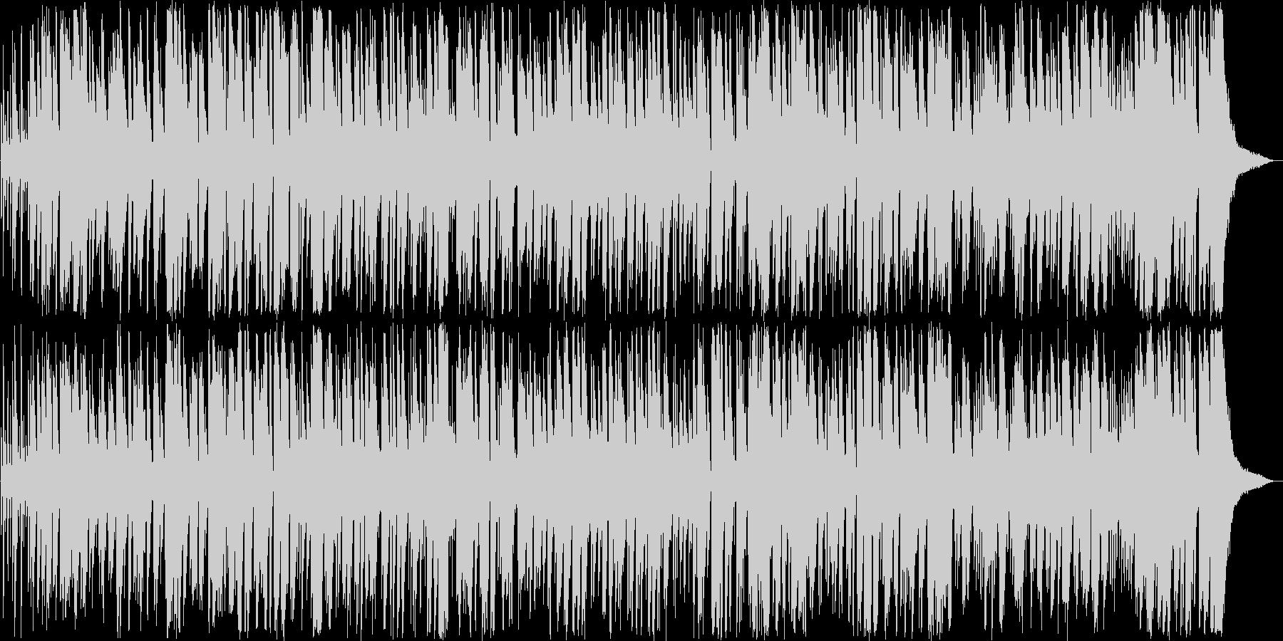 弾むようなボサノバミュージックの未再生の波形