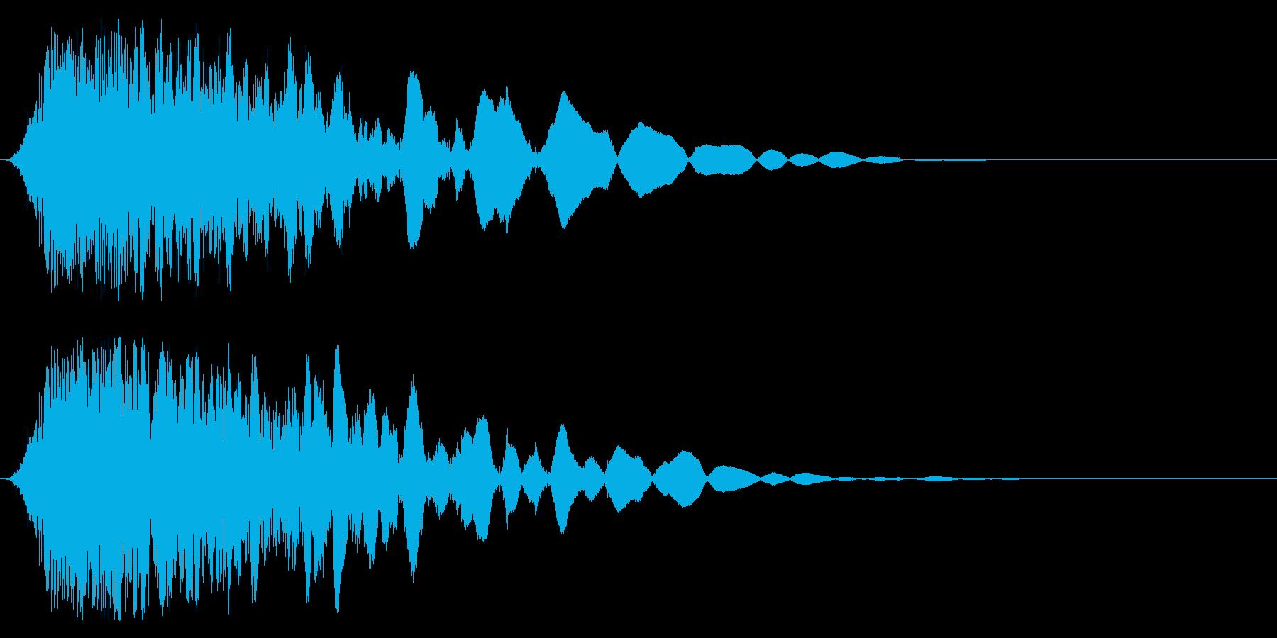 刀や剣 抜刀 斬撃の効果音 11cの再生済みの波形