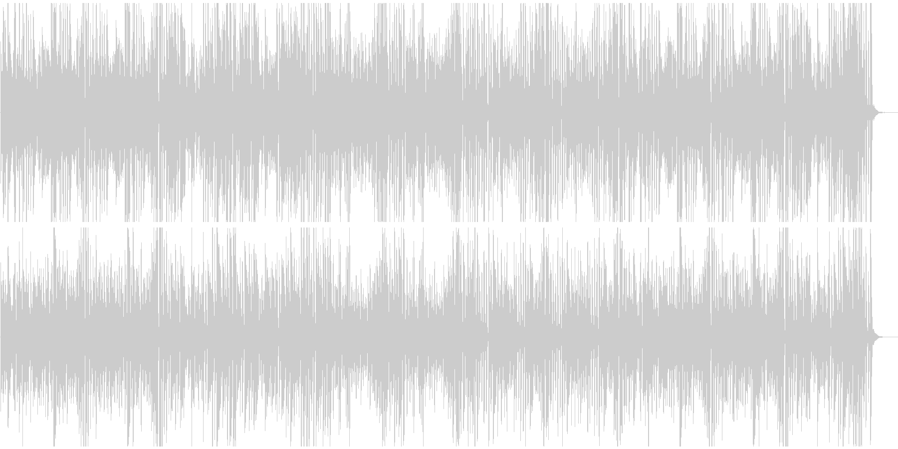 ピアノ名曲クシコスポスト思わず慌てちゃうの未再生の波形