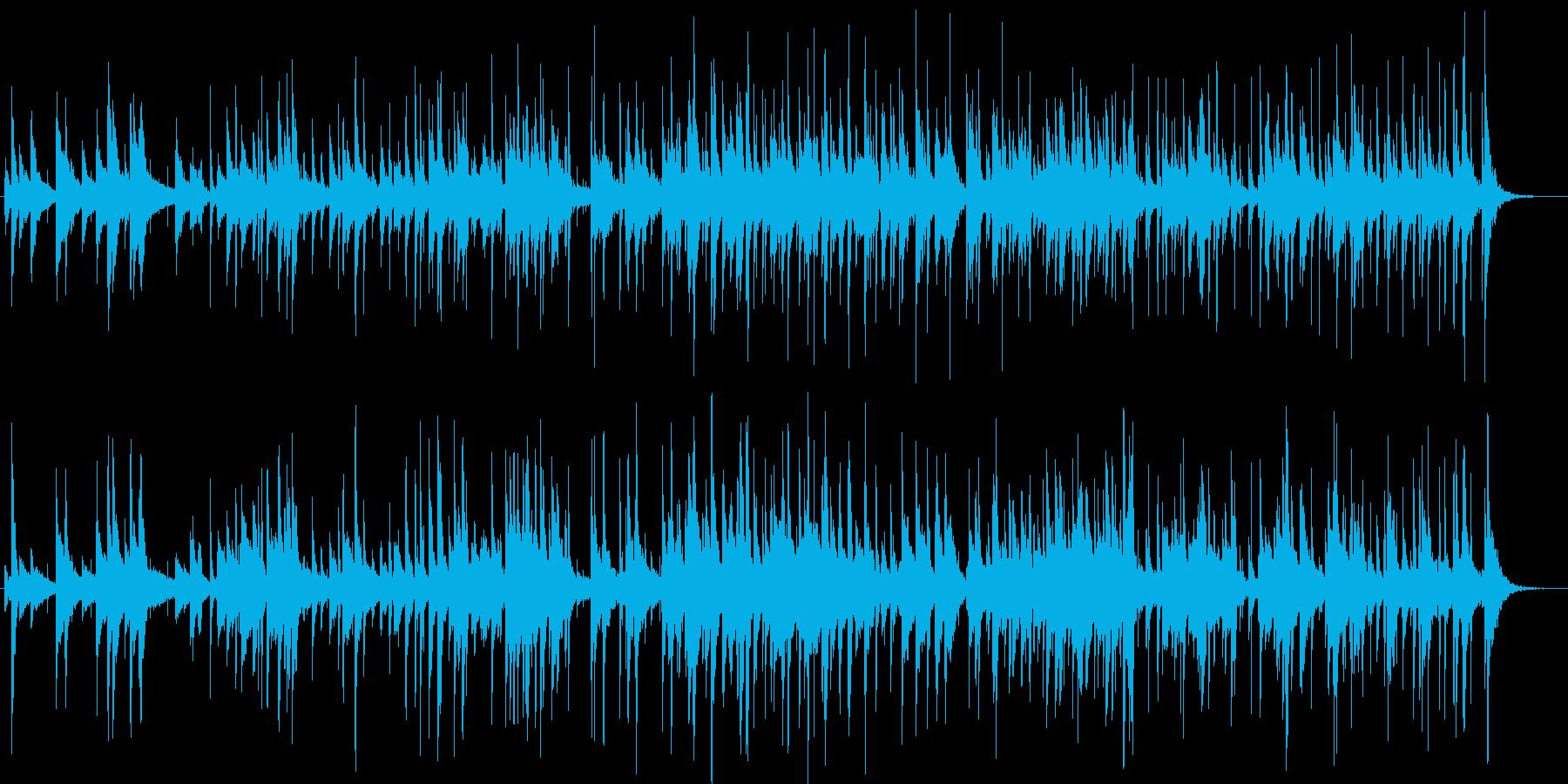 オシャレなジャズ風の曲の再生済みの波形