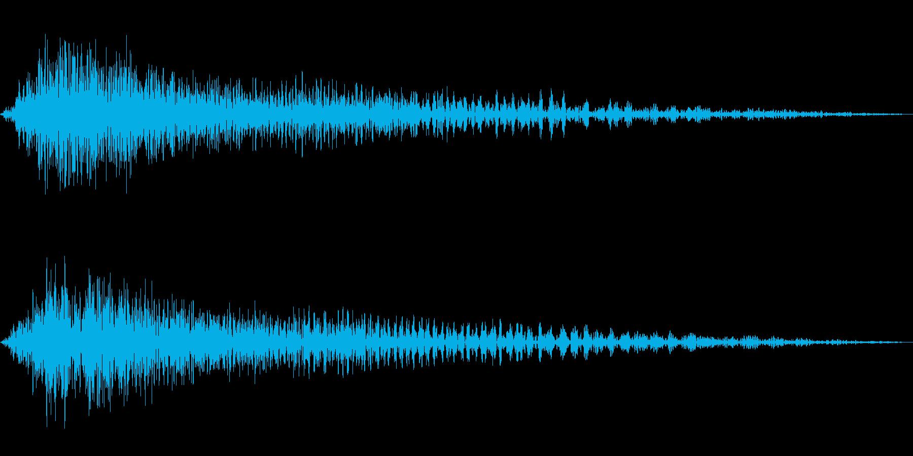 ゲーム用:キャンセル音「シュンッ」の再生済みの波形