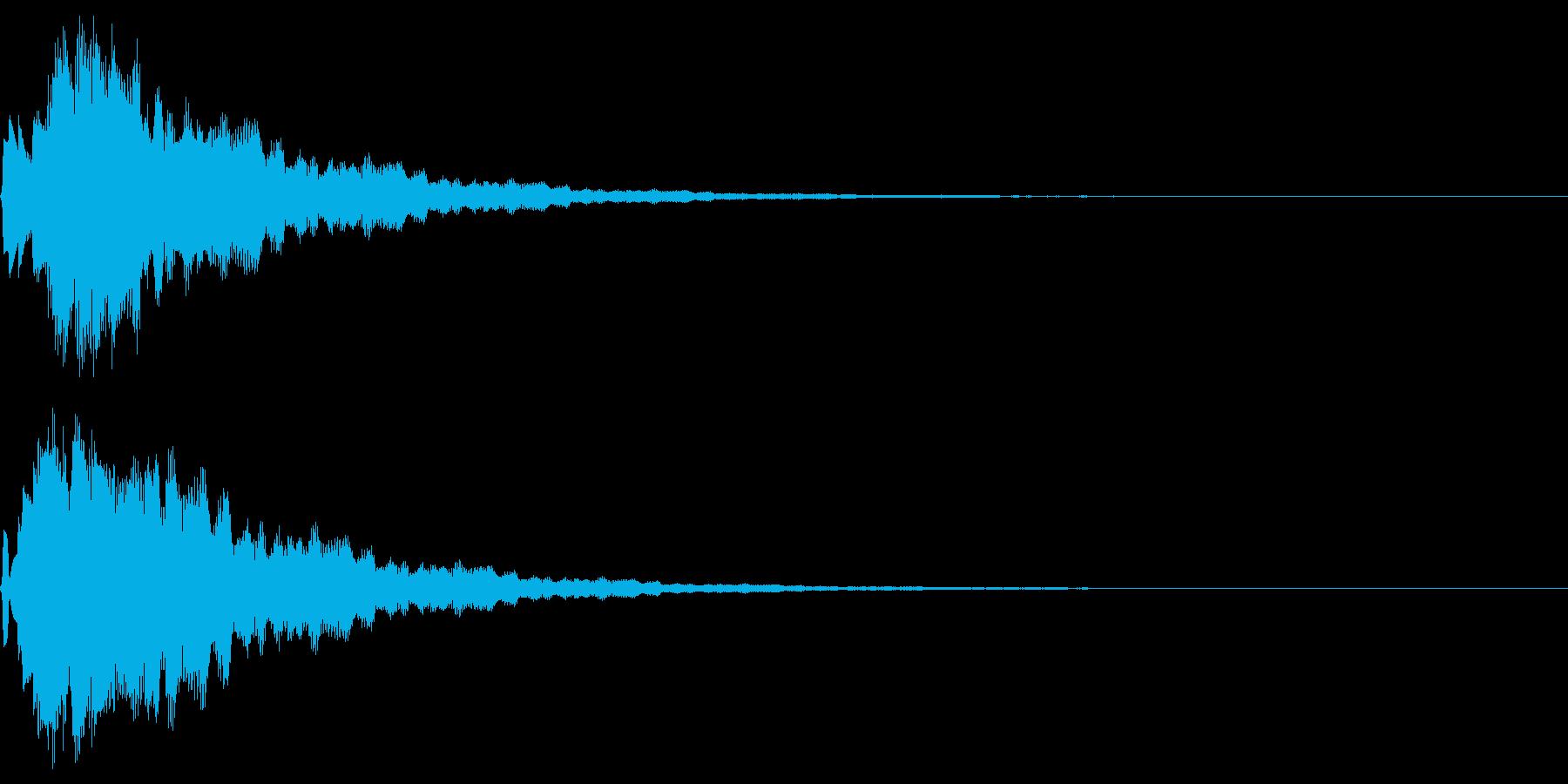 サウンドロゴ12(ベル系)の再生済みの波形