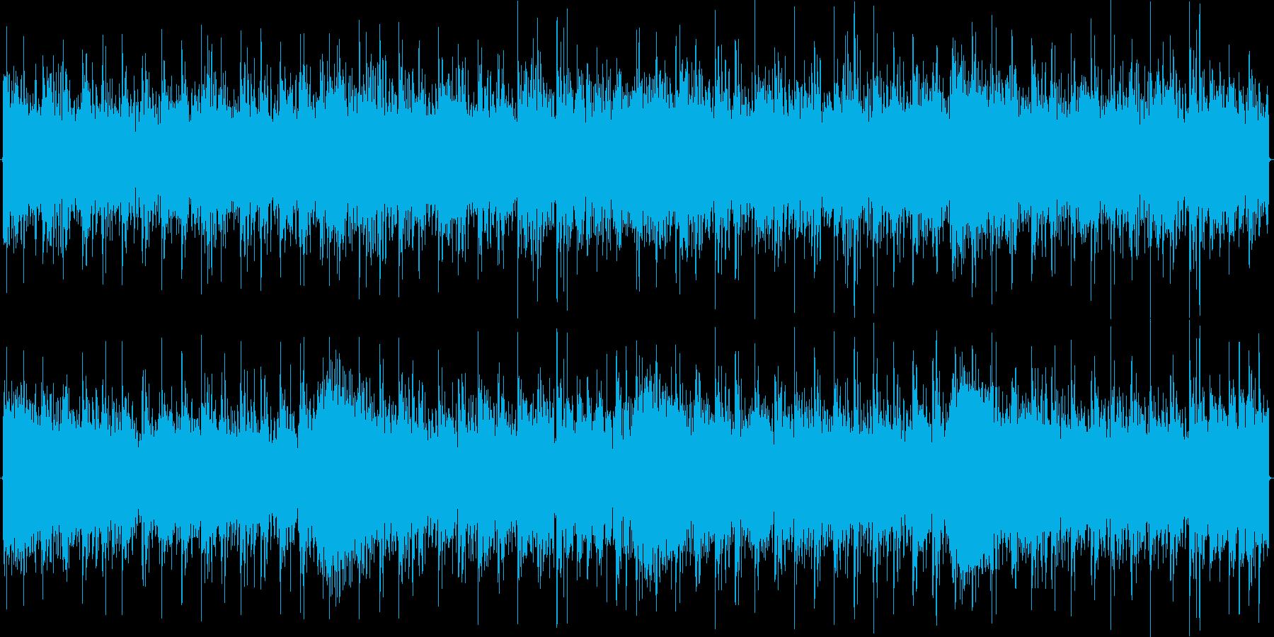 急いでる雰囲気のあるメタル風の曲の再生済みの波形