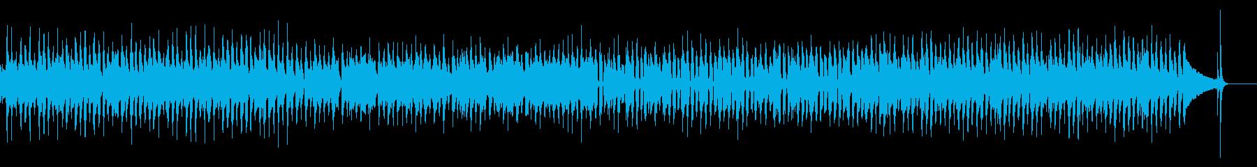 【生音】クリーンギターのロックインストの再生済みの波形
