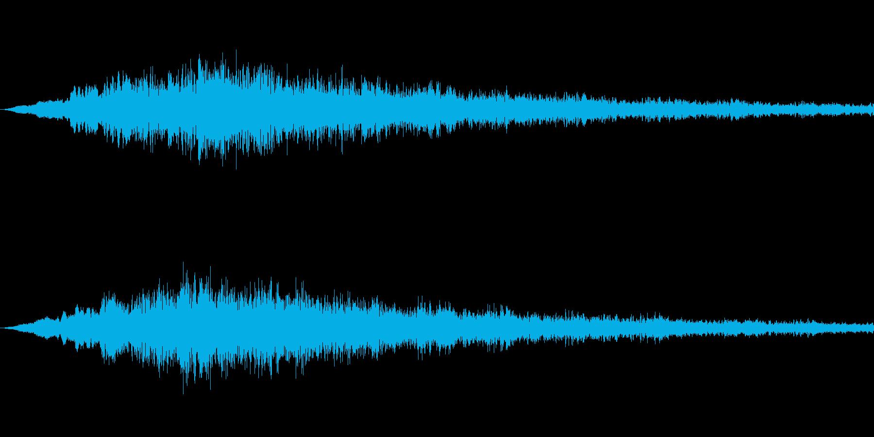 SFっぽい音その5です。「ヴウウウウウ…の再生済みの波形