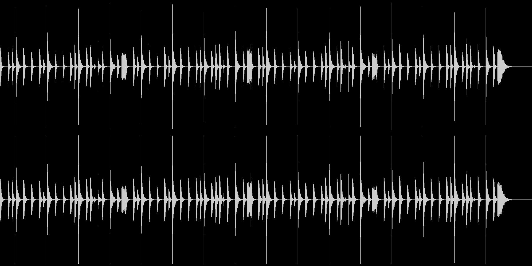 レゲエのリズムパターン1の未再生の波形
